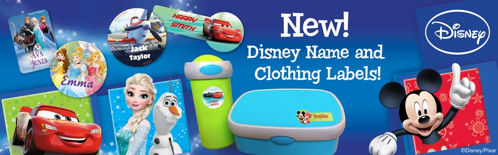 New! Disney Name and Clothing Labels!