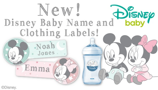 New! Disney Baby Name and Clothing Labels!