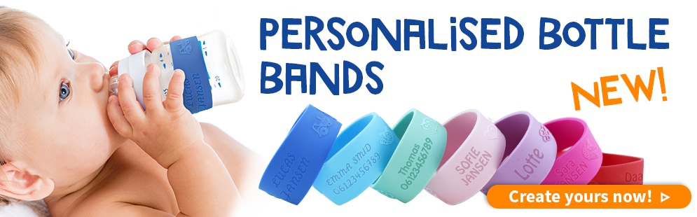 New! Personalised Bottle Bands