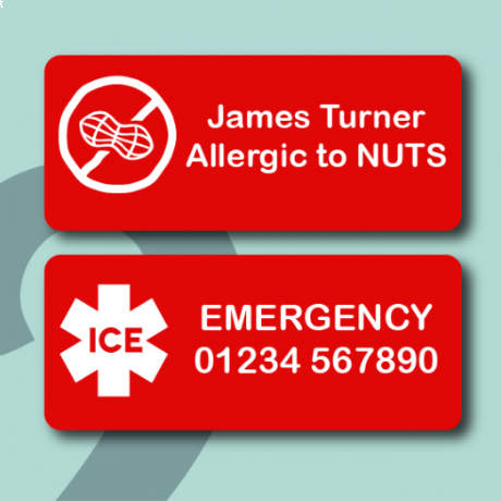 Allergy Name Stickers
